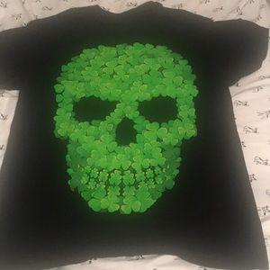 Other - Cool skull made of shamrocks skull
